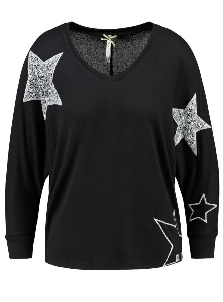 WLS GALAXY v-neck 3/4 black