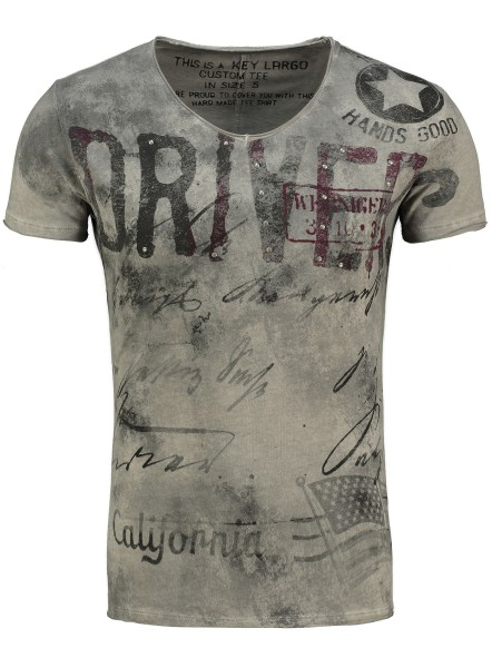 MT DRIVING v-neck silver