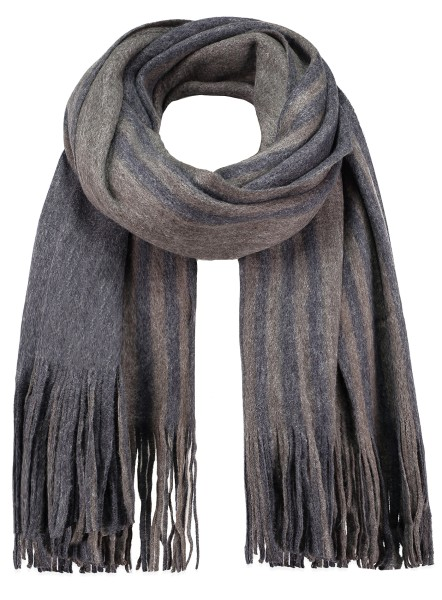 MA DENMARK scarf /4 anthra-dark blue