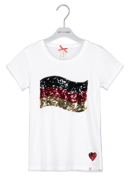 GT GERMAN FLAG round white