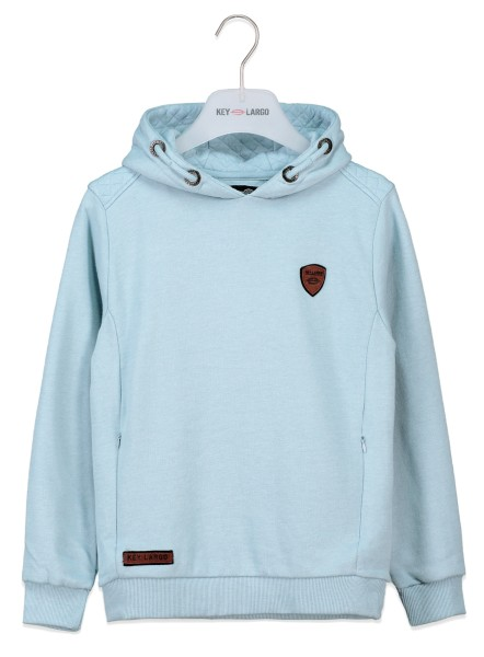 BSW KEEPER hoody light blue mel.