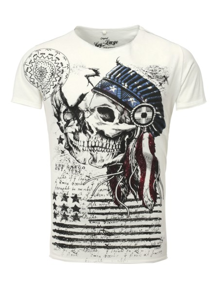 MT INDIAN SKULL round offwhite