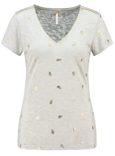 WT FEATHER v-neck silver