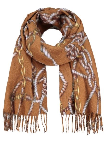 WA CORD scarf / 5 brown