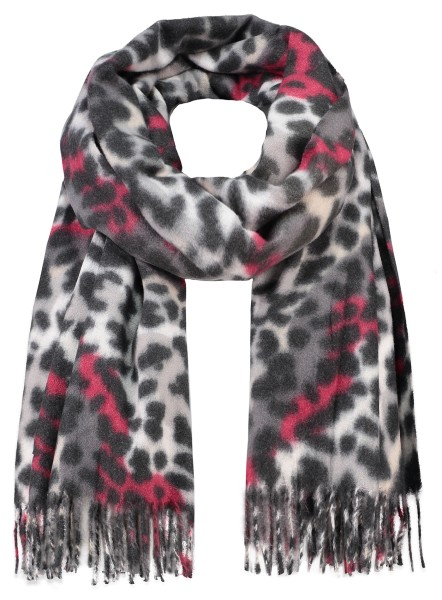 WA ANIMAL scarf / 4 red
