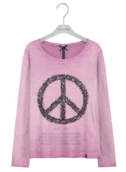 GLS PEACE round fuchsia pink