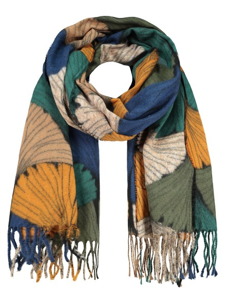 WA GINKGO scarf / 4 green