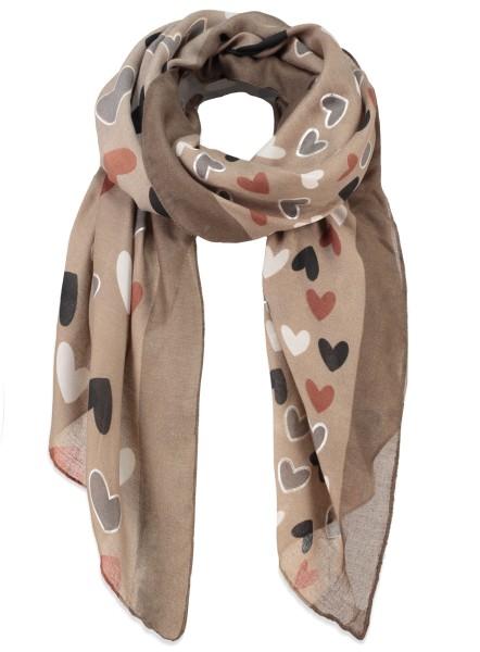WA KISS scarf / 4 schlamm