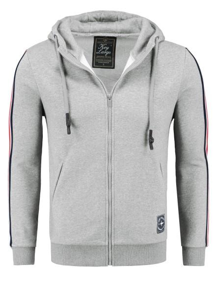 MSW JUVE hoody-jacket silver mel.
