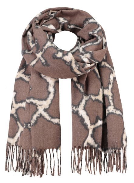 WA GIRAFFE scarf / 3 schlamm