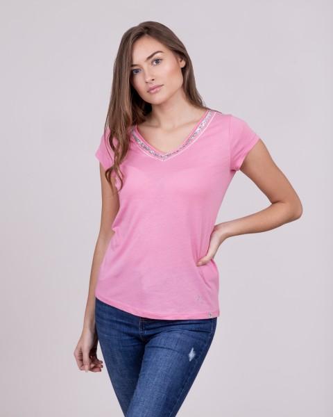 WT MILA v-neck pink