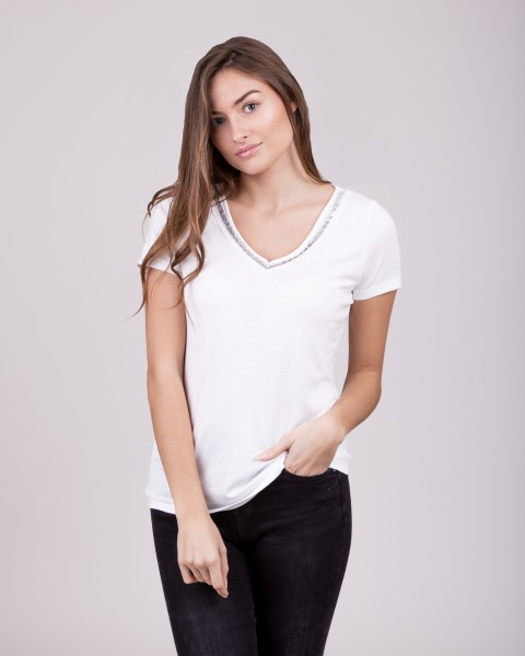 WT MILA v-neck white