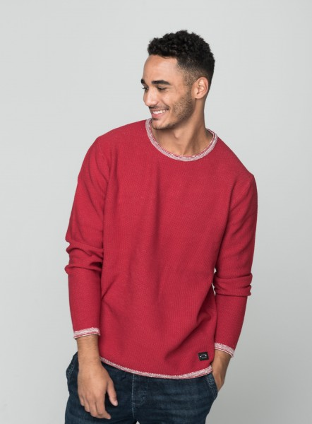 MST MIKA round neck cloudy red
